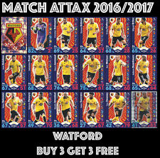 TOPPS MATCH ATTAX 2016 2017 16/17 CHOOSE YOUR BASE CARDS:  #307-324 WATFORD