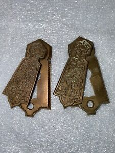 Beautiful Vintage pair of Collectible  Bronze  Keyholes  with swivel cover