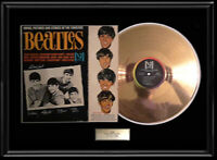 BEATLES GOLD METALIZED VINYL RECORD RARE STORIES PICTURES INTRODUCING VEE JAY