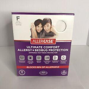 AllerEase Ultimate Comfort Allergy Bedbug Protection Mattress Cover Full Size