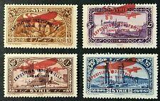 SYRIA Sc#C41-C44 1929-37 Incomplete set Mint NH OG (#C41-ng) VF (9-145)