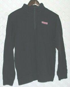 VINEYARD VINES Sweatshirt Youth XL 20  1/3 Zip Pullover Navy Blue Unisex Kids