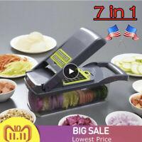US Mandoline Slicer 7 in 1 Vegetable Slicer Fruit Cutter Potato Peeler Grater
