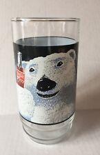 Christmas Coca-Cola Polar Bear Glass 1995 Indiana Glass Always Cool