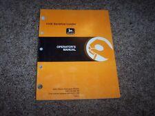 John Deere 410E Backhoe Loader Owner Operator Maintenance Manual OMT184380