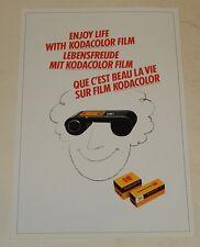 Feuillet publicitaire KODAK : Que c'est beau la vie sur Film Kodacolor - Vintage
