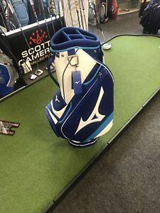 Mizuno Tour Golf Cart/Trolley Bag 5-WAY Top Staff Blue/White  2021 model