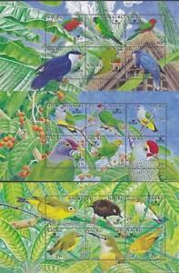 NAURU MNH STAMP SHEETS 2005 BIRDLIFE INTERNATIONAL 3 SHEETS SG MS603
