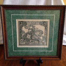 Saint George London 1527 Engraving By Allen Bjorkman @1991 Renaissance Forgeries