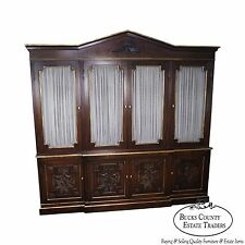 Custom Quality Large Adams Style Bookcase Cabinet
