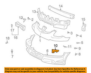 Pontiac GM OEM 03-08 Vibe Front Bumper-Side Support Bracket Right 88970433