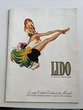 Programme Lido De Paris Revue Cocorico