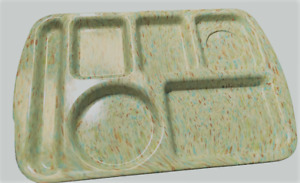 Prolon Melamine  Lunch Tray Green with Confetti Vintage
