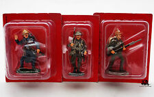 Lot 3 Figurines Collection Hachette Grande Guerre Soldat plomb Poilu Allemand
