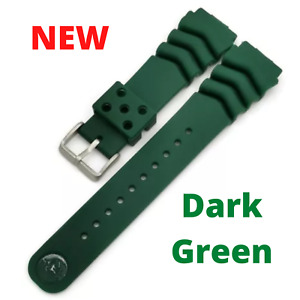 Genuine Seiko Z22 Watch Band Diver SKX171SKX173 18-22mm Black Rubber Watch Strap