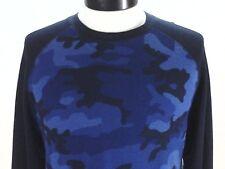 POLO Ralph Lauren Thermal Shirt Sleepwear Blue Camo Military L/S Mens M $45 New