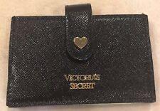 Victoria's Secret Black Accordion Credit Card ID Mini Wallet Carrier 5 Slots NWT