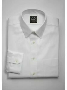 NEW Joseph A Bank Dress Shirt Traditional Fit Traveler's Collection White 16-34