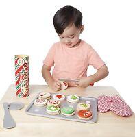 Melissa & Doug Slice and Bake Wooden Christmas Cookie Play Food Set 15158