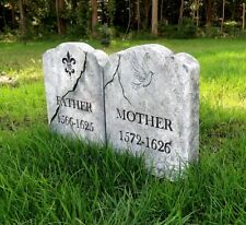 FATHER / MOTHER Halloween Tombstone Yard Prop Cemetery Graveyard Horror Myers