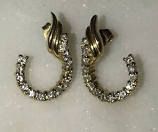14k Gold White Diamonds Earrings J Design Sparkly