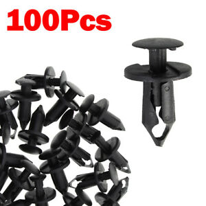 100pc Clips for Hole Plastic Rivets Retainer Fender Bumper Push Pin Fastener 8mm