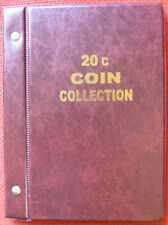 VST AUSTRALIAN 20c COIN ALBUM for 20c COLLECTION 1966 to 2016 - MINTAGES PRINTED
