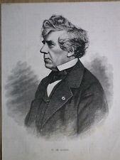 Gravure de presse 1873, Charles Rogier