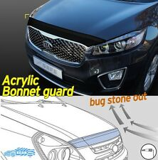 Acrylic Smoked Bonnet Hood Guard Deflector Black D-633 for Kia Sorento 2016~2020