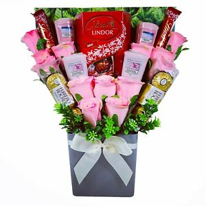 The Yankee Candle and Pink Rose Chocolate Bouquet