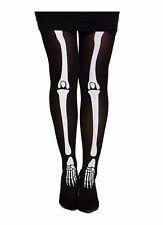 Womens Ladies Halloween Skeleton Bone Print Tights Party Fancy Dress Up Costume