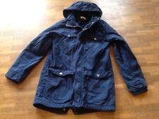 H&M Winter Jacke, Mantel Gr. 158 blau Kapuze !!!