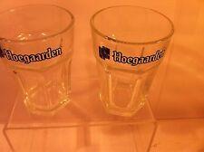 2 HOEGAARDEN BEER  GLASSES--HEAVYWEIGHT---HEXAGONAL-----FREE SHIP--VGC
