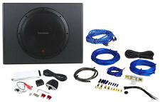 "Rockford Fosgate P300-12 12"" 300w Sealed Powered Subwoofer/Sub Enclosure+Amp Kit"
