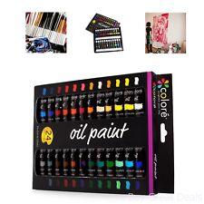High Quality Oil Paint Set Kids Adult Large Painting Kit 24 Color Art Supplies