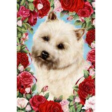 Roses Garden Flag - Wheaten Cairn Terrier 190941