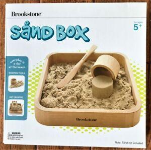 "Brookstone Sand Box with Sand Molds No Mess 9.5"" x 9.5"" New Open Box"