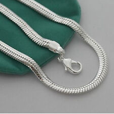 "Fashion Accessories 10MM 20"" Snake Chain Strong Men's Necklace FN73, 925 Silver"