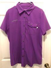 Cannondale Womens Shop Shirt -Size XL - Purple - Button Front