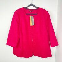 Liz Jordan BNWT Designer Collection Women's Size 18 Pink Jacket RRP $169.95
