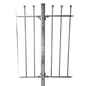 Universal Fence Posts & Fixings Railings Galvanised Metal Iron Fence Steel