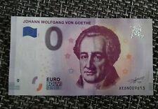 Null euro schein - Komponisten Johann W. von Goethe 2018-1