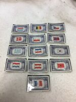 United States Postage  5 Cent Stamps Unused Flags of The World (13) Diff Stamps