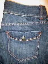 Abercrombie & Fitch Straight Flap Pockets Womens Dark Blue Jeans Size 2 x 26.5