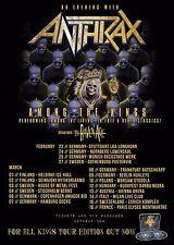 "Anthrax ""Among The Living"" 2017 European Concert Tour Poster- Thrash Metal Music"