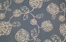 """MAGNOLIA HOME ADELE  SAIL BLUE FLORAL TOILE FURNITURE FABRIC BY THE YARD 54""""W"""