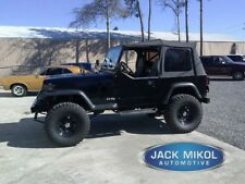 Black 1988-1995 Jeep Wrangler Soft Top Tinted Windows w/o Skins