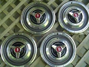 VINTAGE 1966 PLYMOUTH FURY SAVOR RUNNER BELVEDERE SATELLITE HUBCAPS WHEEL COVERS