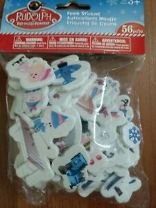 56 Assorted Rudolph the Red Nosed Reindeer/ Island of Misfit Toys Foam Stickers