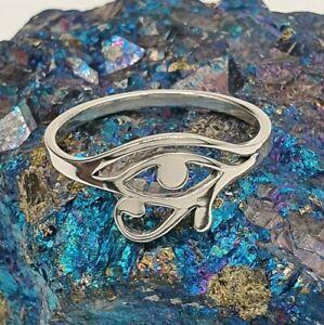 Eye Of Horus Ring - Sterling Silver 925, Egyptian